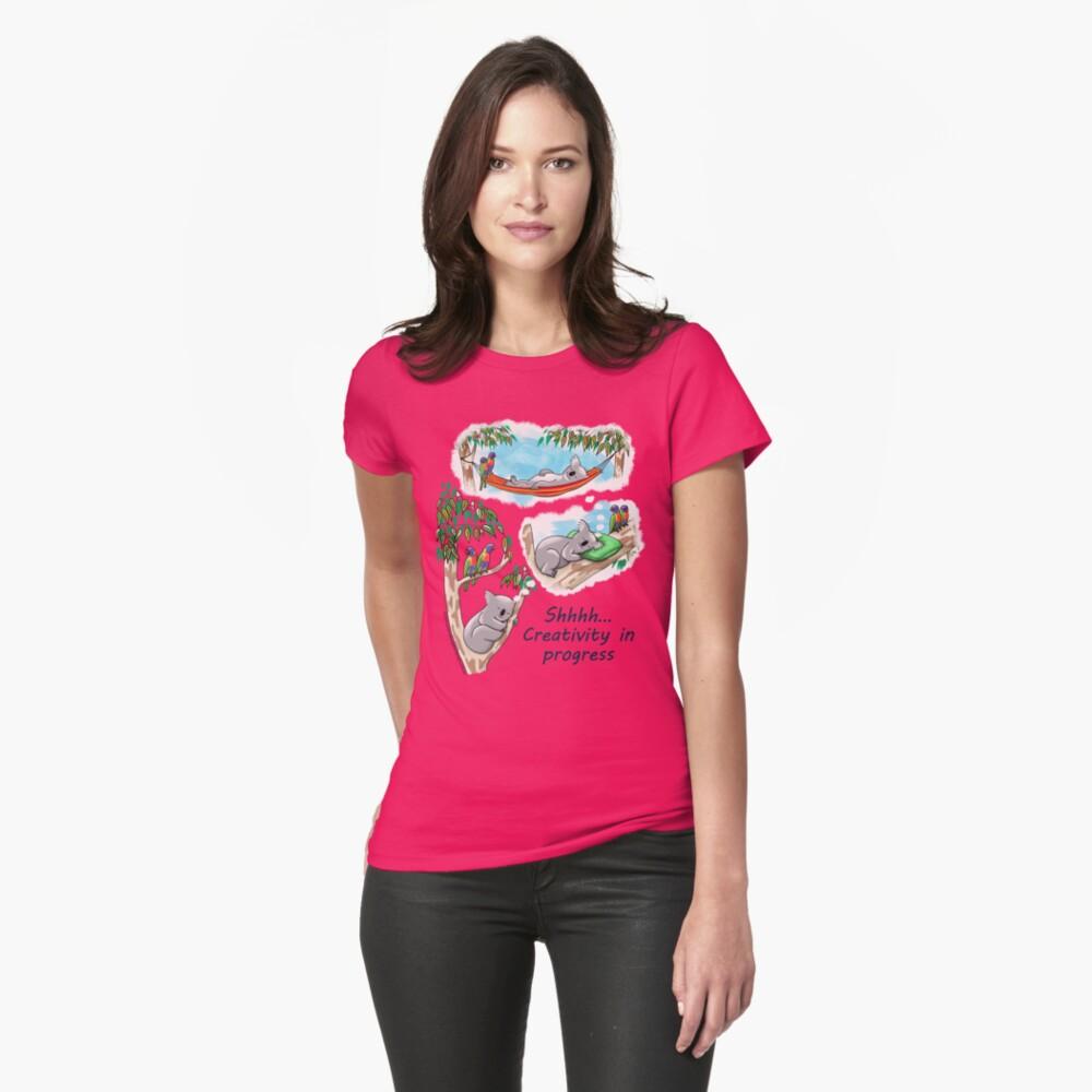Koala dreams - Shhh… Creativity in progress Fitted T-Shirt