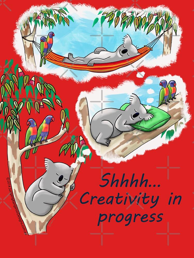 Koala dreams - Shhh… Creativity in progress by JumpingKangaroo