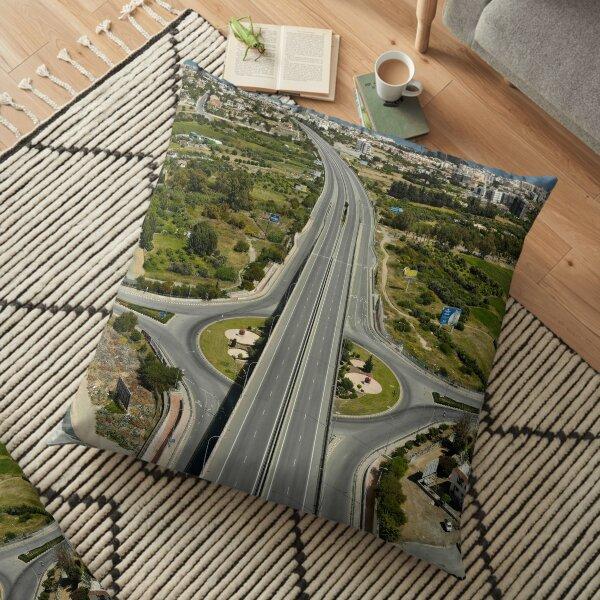 Highway Lockdown - Germasogeia Floor Pillow