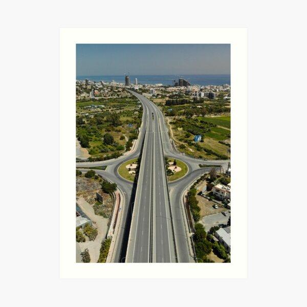 Highway Lockdown - Germasogeia Art Print