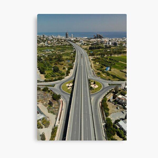 Highway Lockdown - Germasogeia Canvas Print