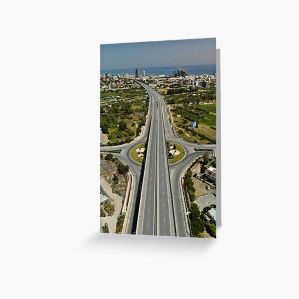 Highway Lockdown - Germasogeia Greeting Card