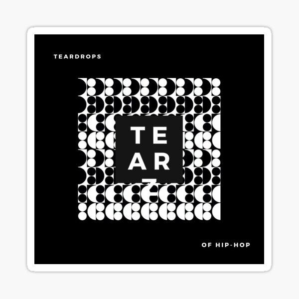 Black/white TEAR Sticker