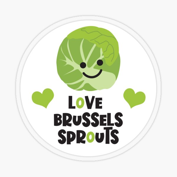 Love the Brussels Sprouts Transparent Sticker
