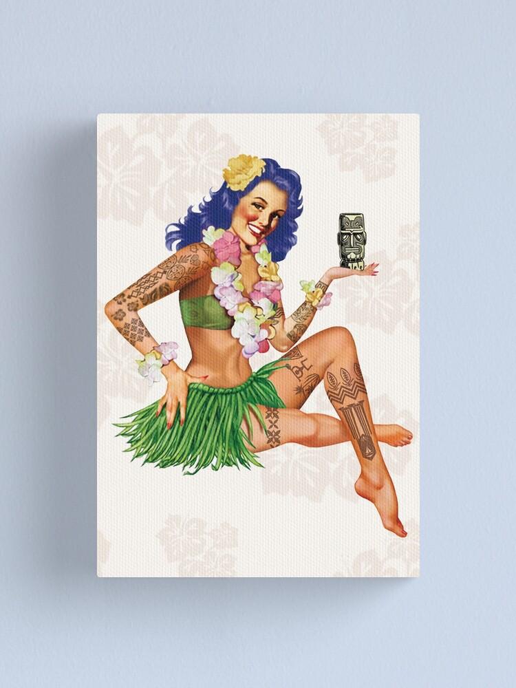 Alternate view of Hawaiian Pin-up Canvas Print
