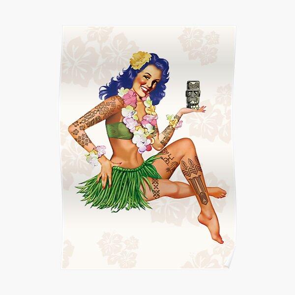 Hawaiian Pin-up Poster