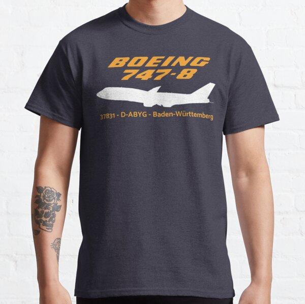 Boeing 747-8 37831 D-ABYG (White)  Classic T-Shirt