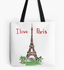 Famous place in France - the Eiffel Tower Tote Bag