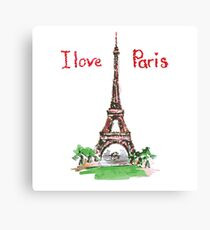Famous place in France - the Eiffel Tower Canvas Print