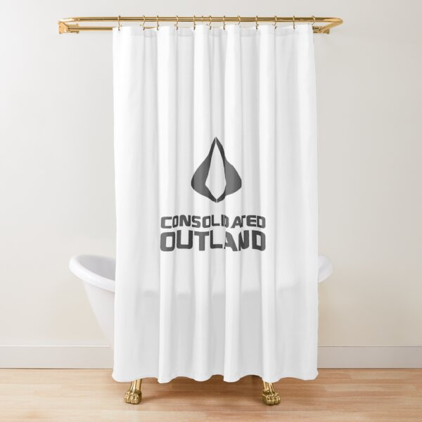 Consolidated Outland Star Citizen Logo Gray Shower Curtain