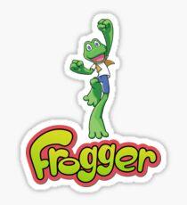 Frogger logo Sticker