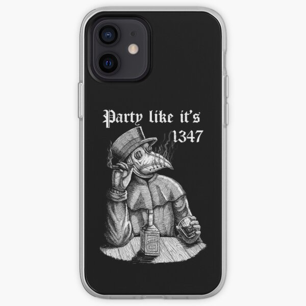 Party like it's 1347 - vintage chill Plague Doctor iPhone Soft Case