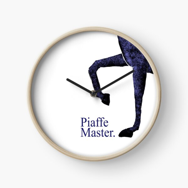 Dressage - Piaffe Master. Blue Horse Clock