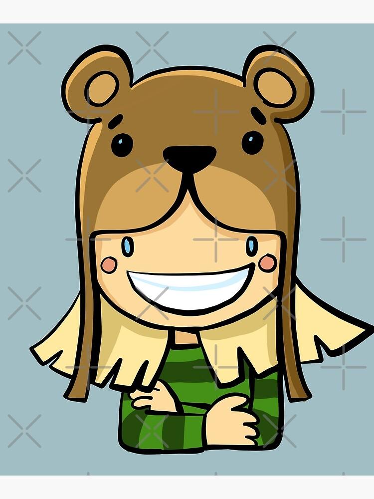 girl in a bear hat by duxpavlic
