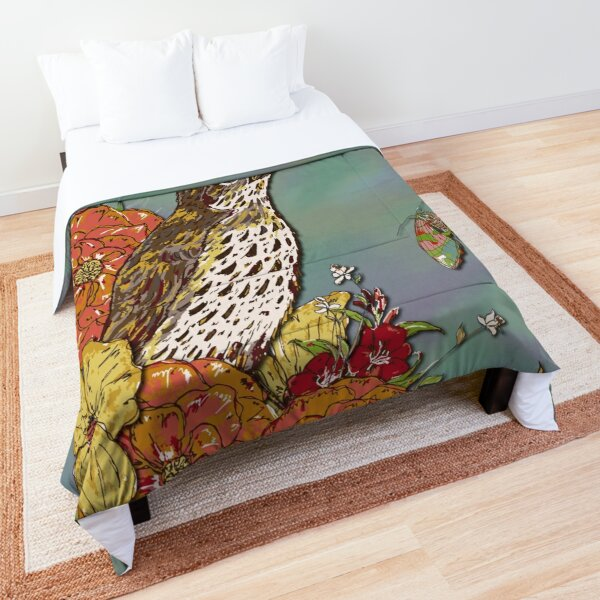 Vintage Song Thrush Comforter