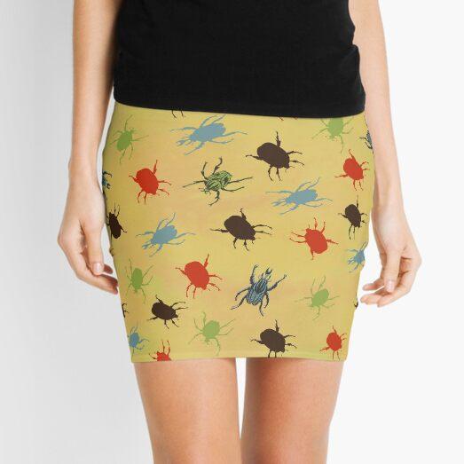 Vintage Beetles & Bugs Mini Skirt