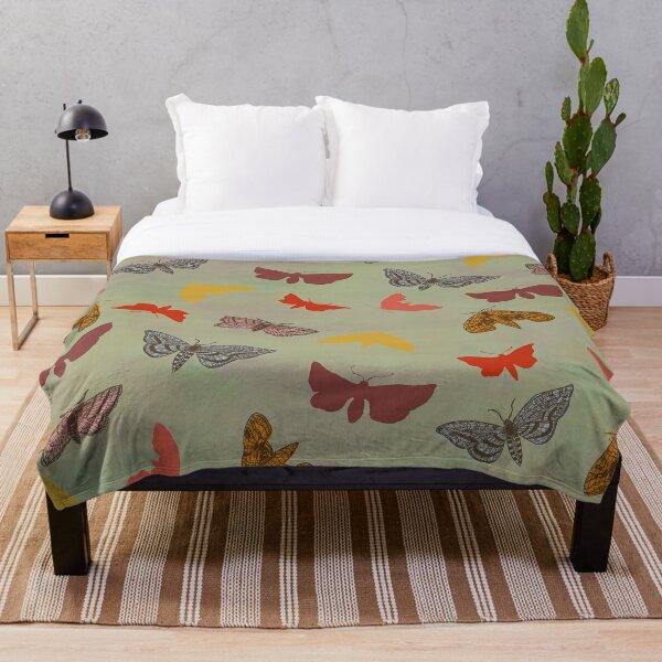 Vintage Butterflies & Moths Throw Blanket