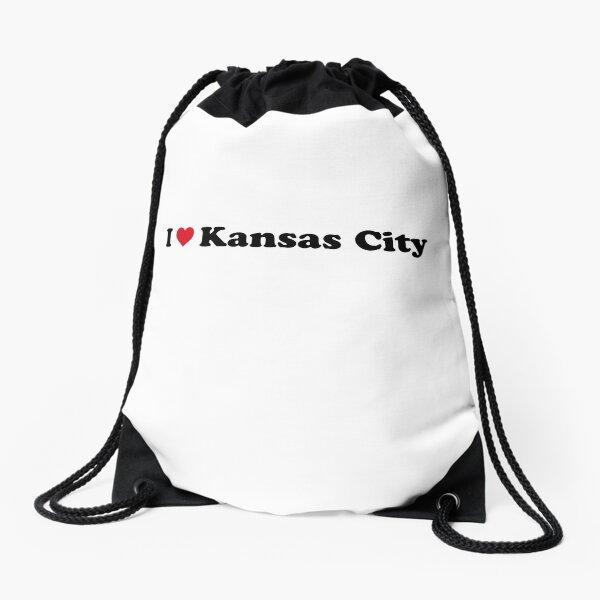 I Love Kansas City Drawstring Bag