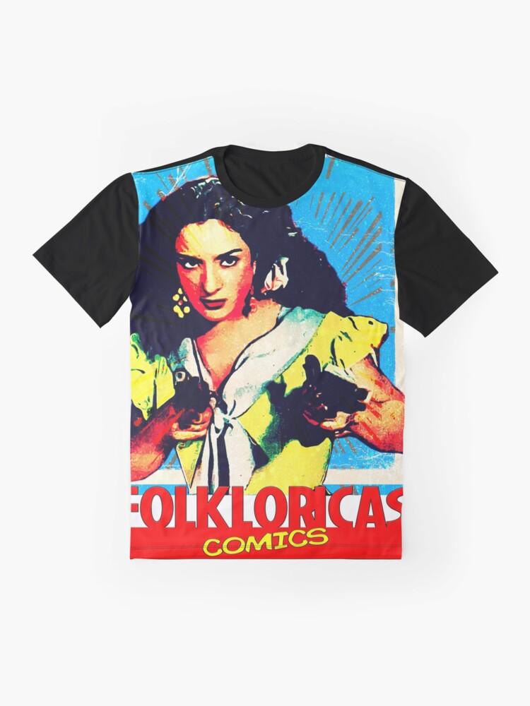 Vista alternativa de Camiseta gráfica Lola Flores Folkloricas Comics Vintage