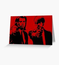 Pulp Fiction - Vincent and Jules Greeting Card