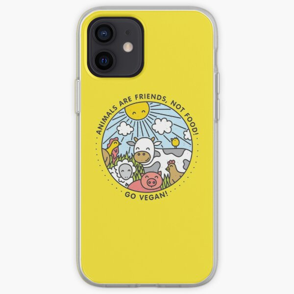 Animals are friends, not food. Go vegan!  iPhone Soft Case