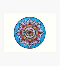 Elements Mandala  Art Print