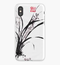 Japanese Orchid Design painted by Lee Henrik iPhone Case