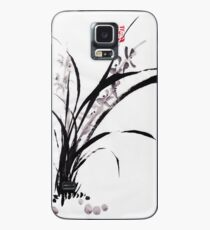 Japanese Orchid Design painted by Lee Henrik Case/Skin for Samsung Galaxy