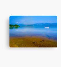 Tranquil Lake Painting of Loch Lomond Canvas Print
