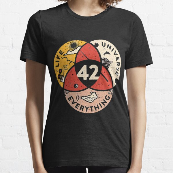 42 The Answer To Life The Universe And Everything Essential T-Shirt
