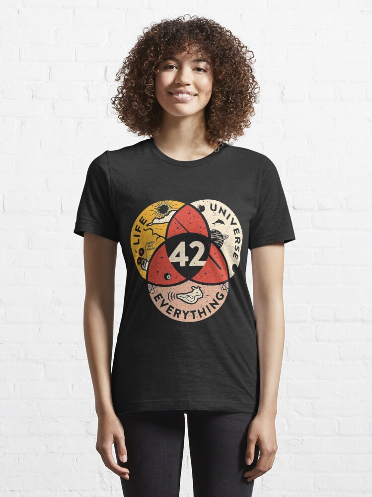 Alternate view of 42 The Answer To Life The Universe And Everything Essential T-Shirt