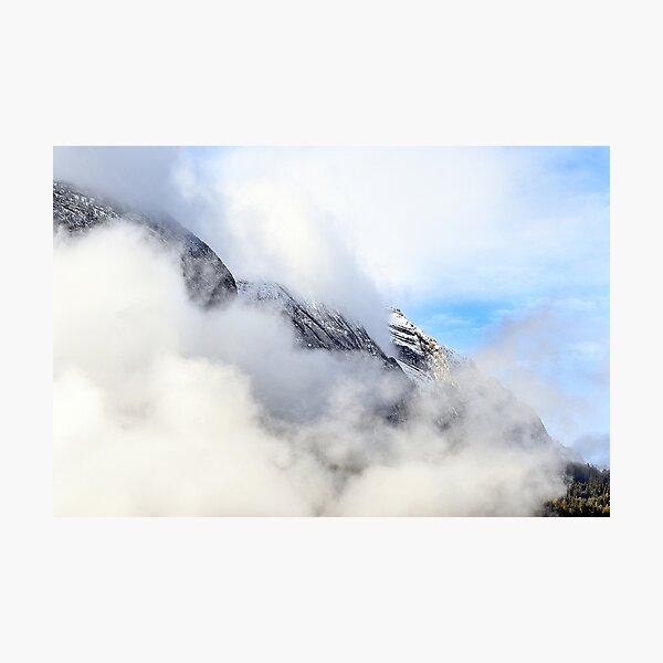 Le Bargy in the clouds Photographic Print