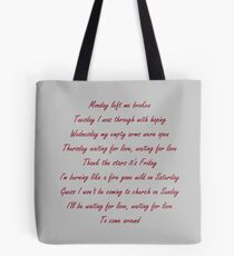 Avicii-Waiting for love  Tote Bag