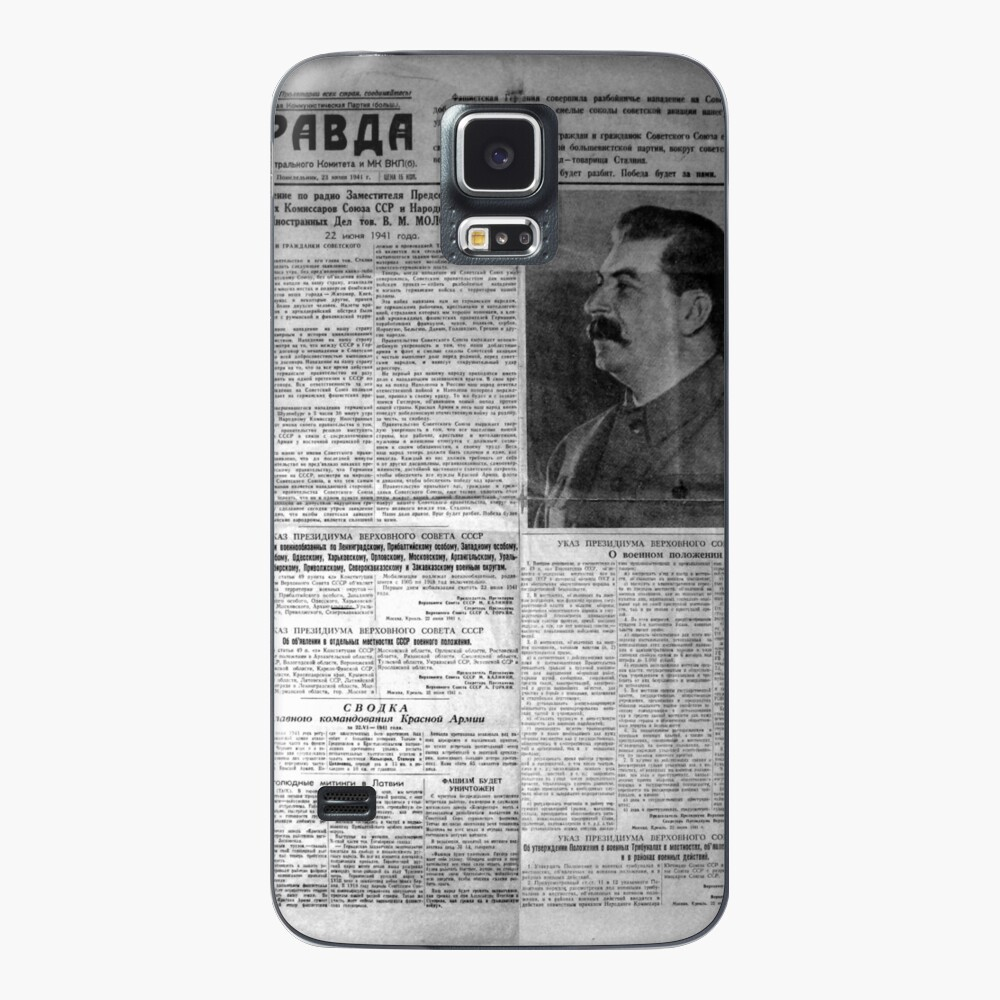 The front page of Pravda on 23 June 1941, including a printed radio speech by Molotov Case & Skin for Samsung Galaxy