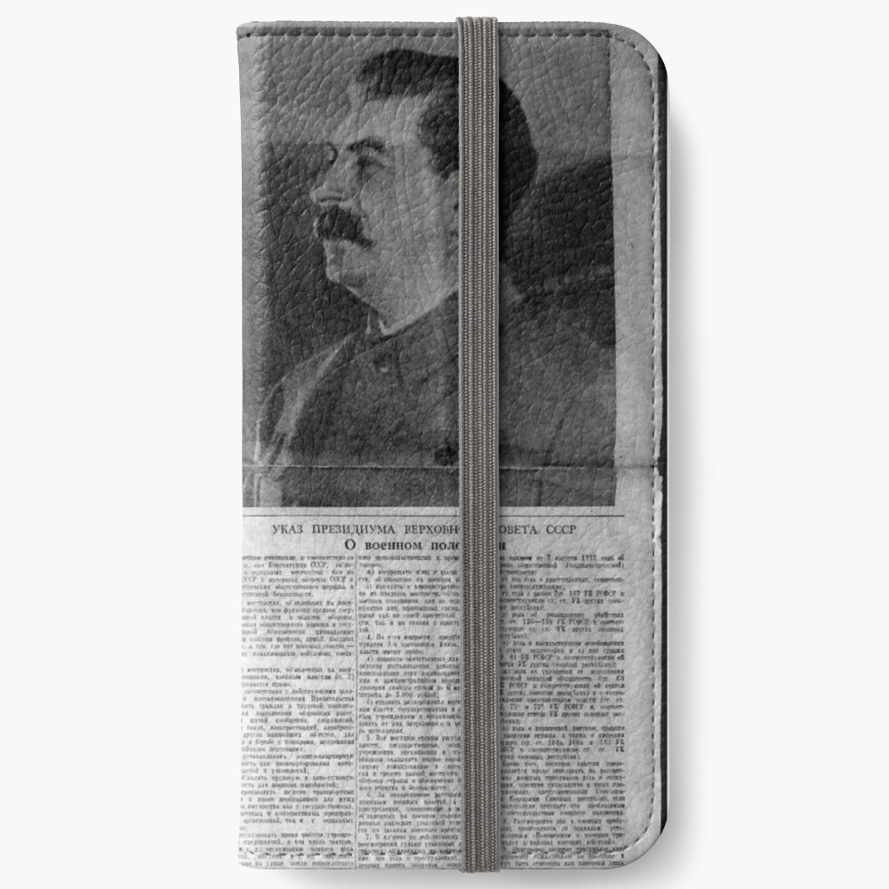 The front page of Pravda on 23 June 1941, including a printed radio speech by Molotov iPhone Wallet