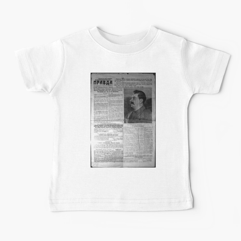 The front page of Pravda on 23 June 1941, including a printed radio speech by Molotov Baby T-Shirt