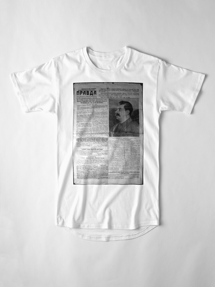 Alternate view of The front page of Pravda on 23 June 1941, including a printed radio speech by Molotov Long T-Shirt