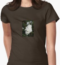 Deutzia White Spring Blossoms  Women's Fitted T-Shirt