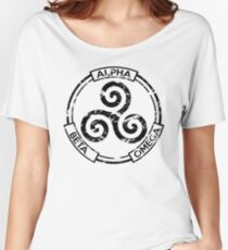 Alpha Beta Omega (Black) - Teen Wolf Women's Relaxed Fit T-Shirt