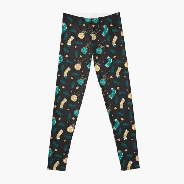 Merry Christmas pattern, Christmas sock design ideas Leggings