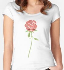 One Shy Rose, young and beautiful creature. Women's Fitted Scoop T-Shirt