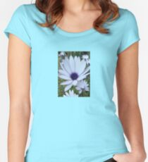 White Osteospermum Flower Daisy With Purple Hue Women's Fitted Scoop T-Shirt