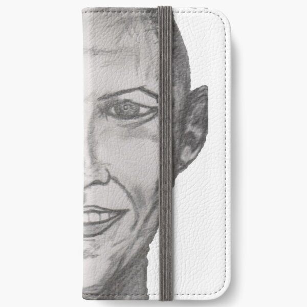Pencil art smile iPhone Wallet