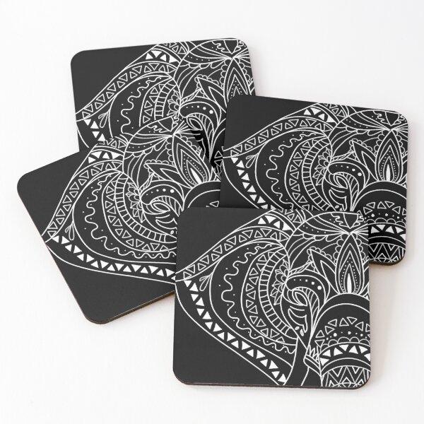 Artisan Elephant Shirts For Women Artisan Men Elephant Shirt Coasters (Set of 4)