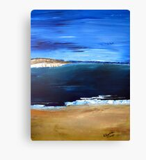 Sea, sky and sand..... Canvas Print