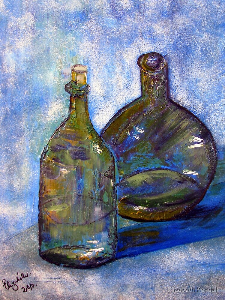 Two green bottles... by Elizabeth Kendall
