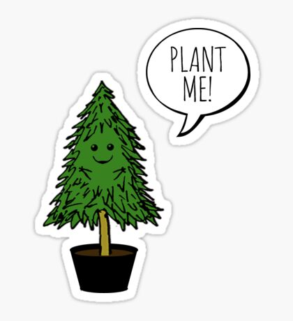 Plant More Trees Sticker