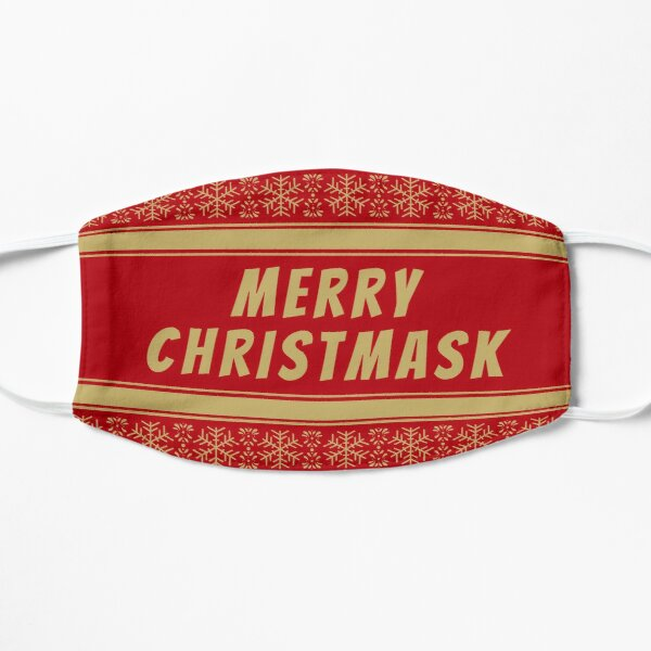 Merry Christmask Cool Christmas Gold Design Mask