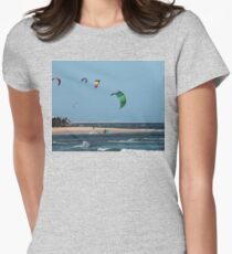Kite Surfing @ Nobby's Women's Fitted T-Shirt
