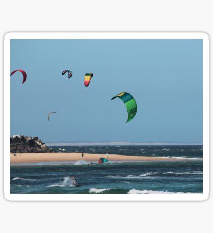 Kite Surfing @ Nobby's Sticker